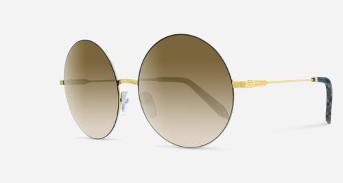 Victoria Beckham FEATHER ROUND BROWN GOLD VBS118 C05 B Sunglasses