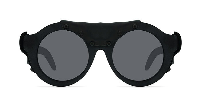 Kuboraum MASK A2 BURNT BLACK LEATHER Sunglasses