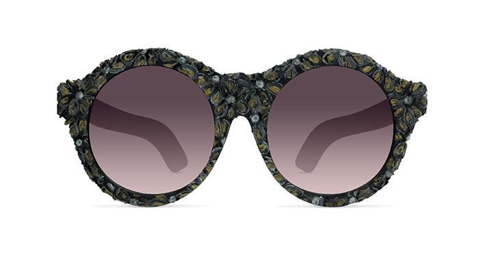 Kuboraum MASK A3 BLACK GOLD FLOWERS Sunglasses
