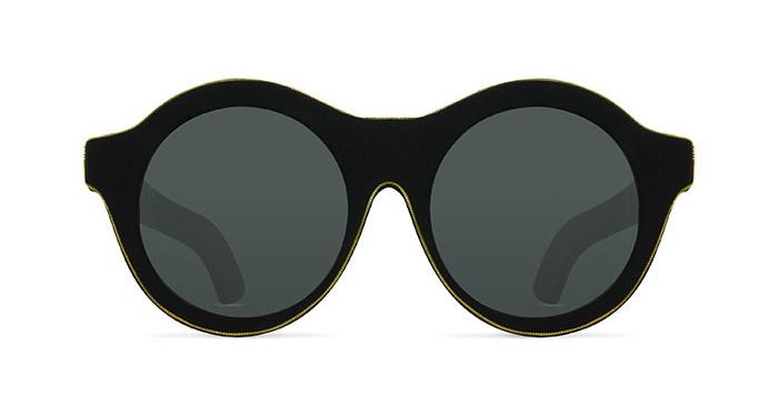 Kuboraum MASK A3 MATTE BLACK BURNT GOLD BORDERED Sunglasses