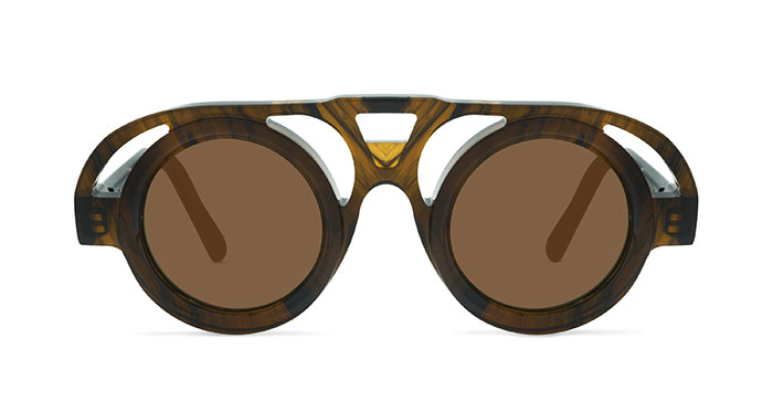 Kuboraum MASK T10 STRIPED BROWN Sunglasses