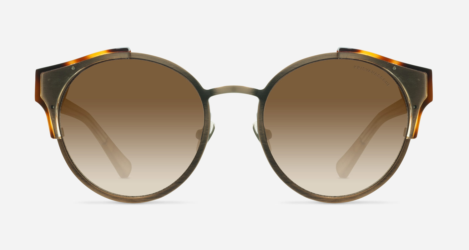 Linda Farrow KRISVANASSCHE 51 TORTOISE SHELL ANTIQUE GOLD C3 D Sunglasses