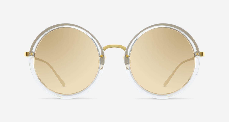 Linda Farrow LINDA FARROW 239 CLEAR YELLOW GOLD C30 Sunglasses