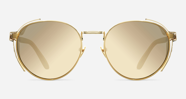 Linda Farrow LINDA FARROW 300 YELLOW GOLD SNAKESKIN C8 E Sunglasses