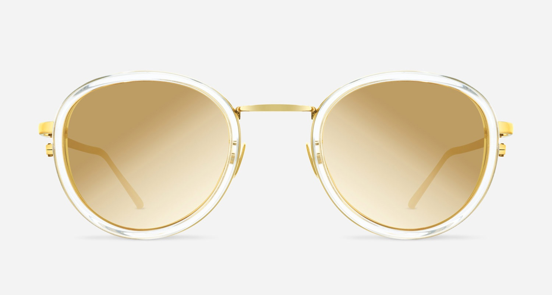 Linda Farrow LINDA FARROW 387 CLEAR YELLOW GOLD C10 A Sunglasses