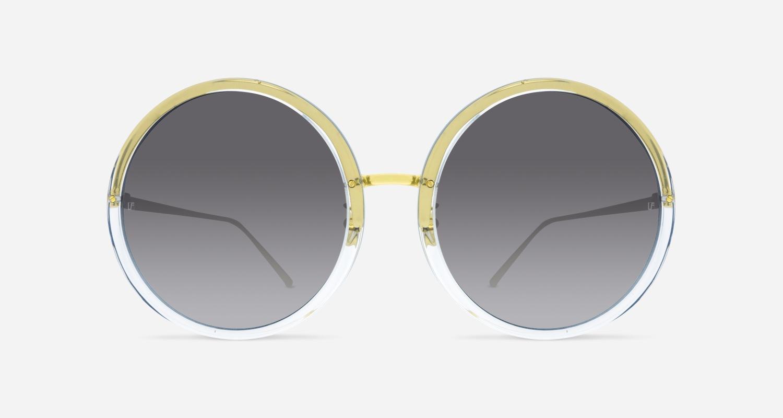 Linda Farrow LINDA FARROW 457 CLEAR YELLOW GOLD C3 KI Sunglasses