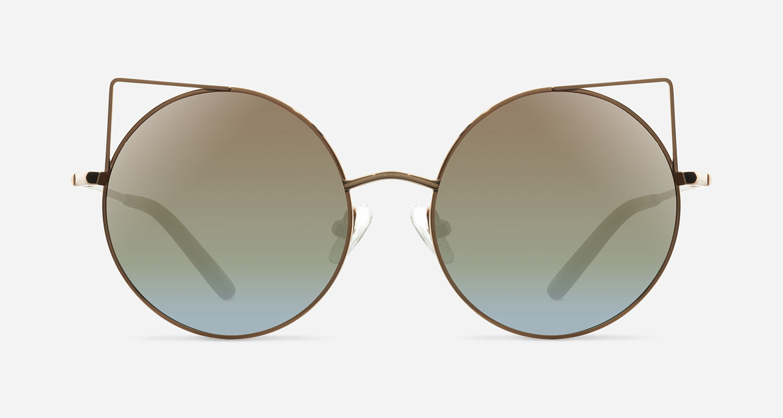 Linda Farrow MATTHEW WILLIAMSON 122 GOLD BRONZE C4 A Sunglasses