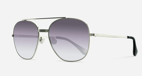 Linda Farrow ANN DEMEULEMEESTER 12 BRUSHED SILVER BLACK C1 L Sunglasses