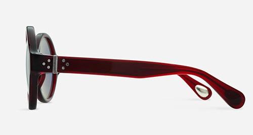 Linda Farrow ANN DEMEULEMEESTER 7 BURGUNDY 925 SILVER C3 G Sunglasses
