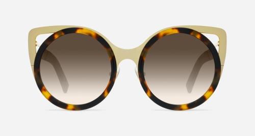 Linda Farrow ERDEM 4 HAVANA C2 P Sunglasses