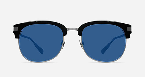 Linda Farrow KRISVANASSCHE 76 BLACK BURNT SILVER C1 DR Sunglasses