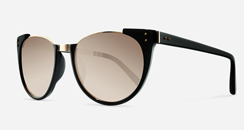 Linda Farrow LINDA FARROW 136 BLACK ROSE GOLD C21 Sunglasses