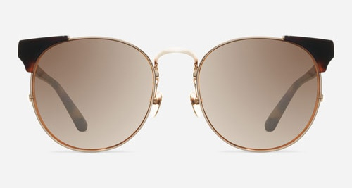 Linda Farrow LINDA FARROW 370 ROSE GOLD TORTOISE SHELL C8 Sunglasses