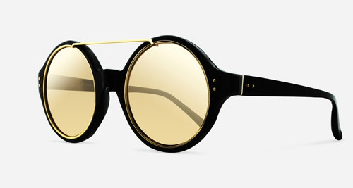 Linda Farrow LINDA FARROW 376 BLACK YELLOW GOLD C1 P Sunglasses