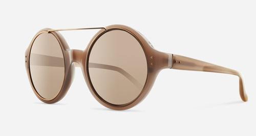 Linda Farrow LINDA FARROW 376 DUSKY ROSE GOLD C4 H Sunglasses