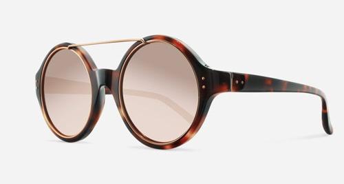 Linda Farrow LINDA FARROW 376 T-SHELL ROSE GOLD C3 H Sunglasses