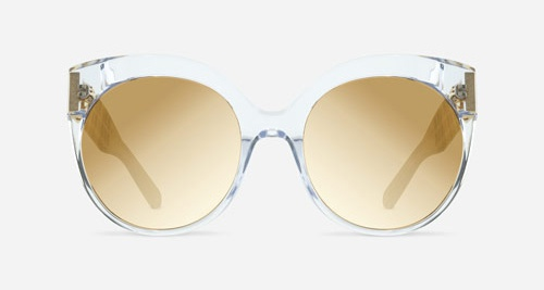 Linda Farrow LINDA FARROW 388 CLEAR YELLOW GOLD C11 C Sunglasses