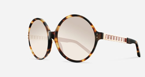 Linda Farrow LINDA FARROW 451 T-SHELL ROSE GOLD C4 J Sunglasses
