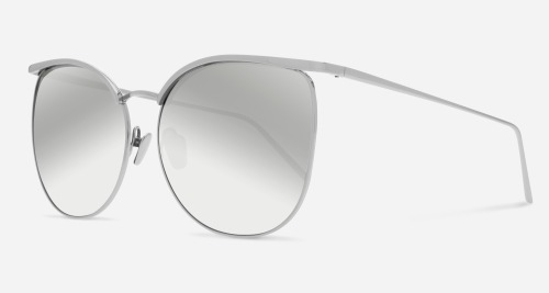 Linda Farrow LINDA FARROW 509 WHITE GOLD MIRROR C2 V Sunglasses