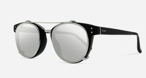 Linda Farrow LINDA FARROW 581 BLACK WHITE GOLD C2 W Sunglasses