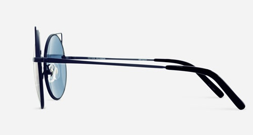Linda Farrow MATTHEW WILLIAMSON 122 MATTE BLUE C19 Sunglasses