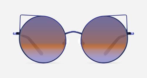 Linda Farrow MATTHEW WILLIAMSON 122 PURPLE HAVANA C11 A Sunglasses