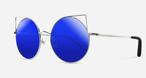 Linda Farrow MATTHEW WILLIAMSON 122 SHINY SILVER BLACK C9 Sunglasses