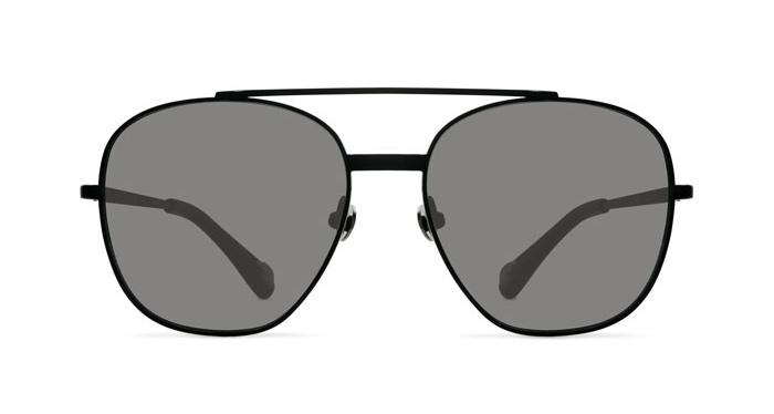 Linda Farrow ANN DEMEULEMEESTER 12 BLACK Sunglasses
