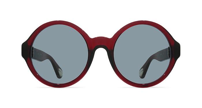 Linda Farrow ANN DEMEULEMEESTER 7 BURGUNDY 925 SILVER Sunglasses