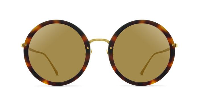 Marni LINDA FARROW 239 MATTE TORTOISE SHELL Sunglasses