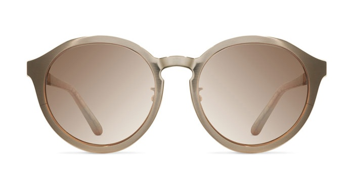Mykita LINDA FARROW 338 ROSE GOLD SNAKESKIN Sunglasses