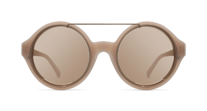 Linda Farrow LINDA FARROW 376 DUSKY ROSE GOLD Sunglasses