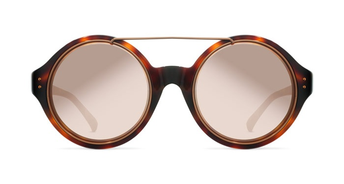 Linda Farrow LINDA FARROW 376 T-SHELL ROSE GOLD Sunglasses