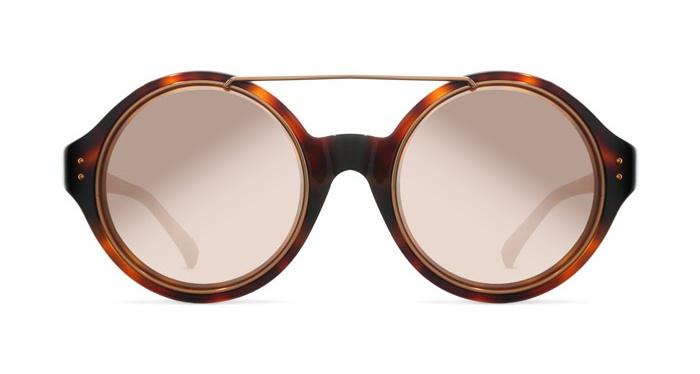 Linda Farrow LINDA FARROW 376 T-SHELL ROSE GOLD Sunglasses