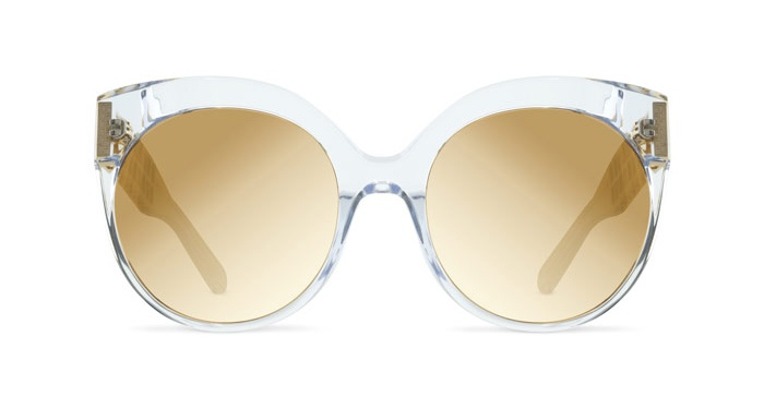 Linda Farrow LINDA FARROW 388 CLEAR YELLOW GOLD Sunglasses