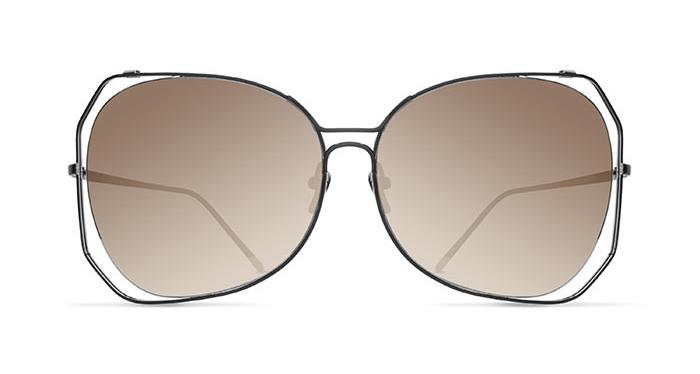 Linda Farrow LINDA FARROW 399 NICKEL Sunglasses