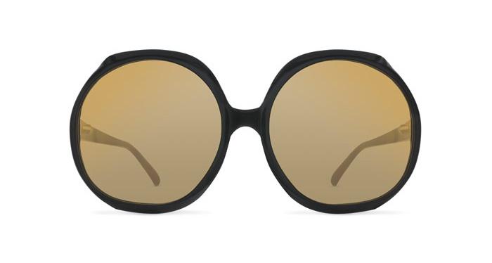 Linda Farrow LINDA FARROW 417 BLACK Sunglasses