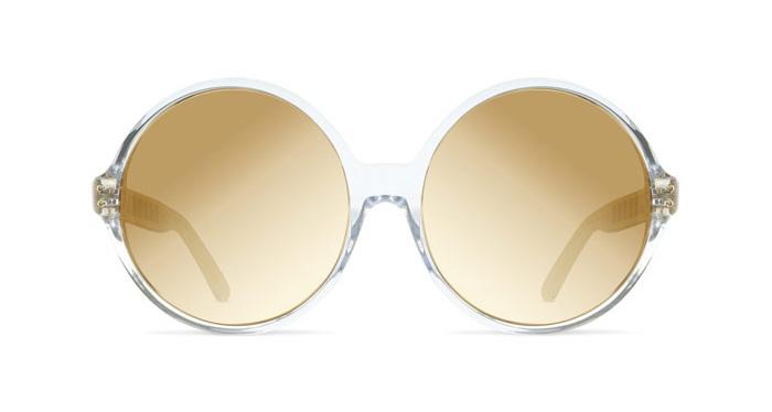 Linda Farrow LINDA FARROW 451 CLEAR YELLOW GOLD Sunglasses