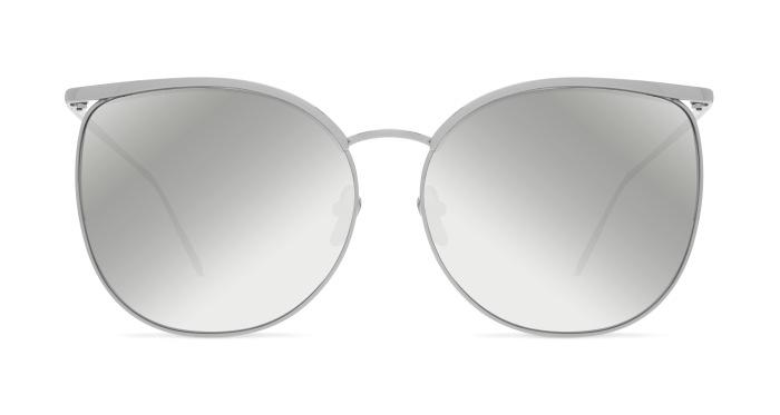 Linda Farrow LINDA FARROW 509 WHITE GOLD MIRROR Sunglasses