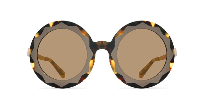 Linda Farrow MARKUS LUPFER 11 TORTOISE SHELL TAUPE Sunglasses