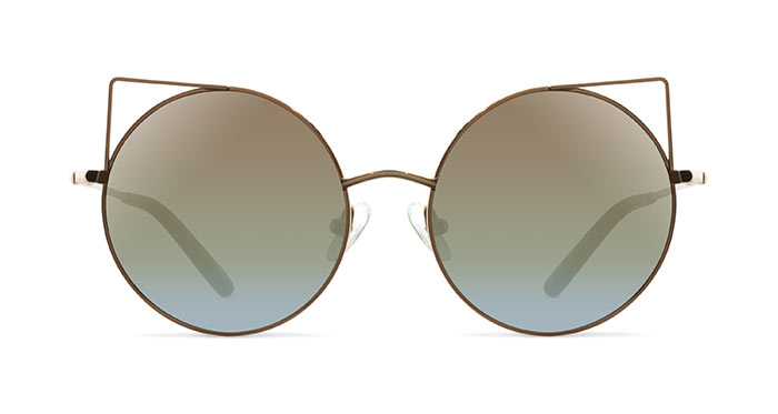 Linda Farrow MATTHEW WILLIAMSON 122 GOLD BRONZE Sunglasses