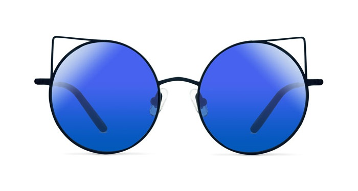 Linda Farrow MATTHEW WILLIAMSON 122 MATTE BLUE Sunglasses
