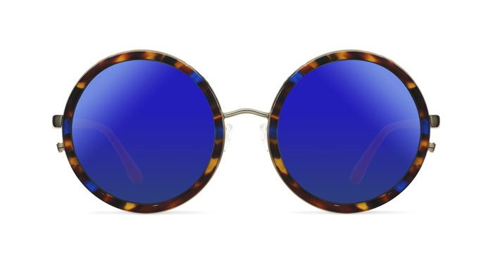 Linda Farrow MATTHEW WILLIAMSON 125 PURPLE TORTOISE SHELL Sunglasses