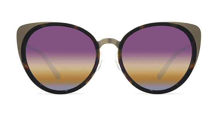 Linda Farrow MATTHEW WILLIAMSON 98 LILAC TORTOISE SHELL Sunglasses